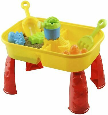 £15.95 • Buy Sand And Water Table Garden Sandpit Play Set Toy Watering Can Spade Sand Bucket