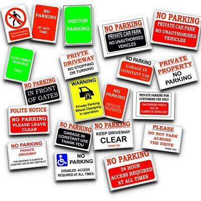 £5.80 • Buy No Parking Plastic Sign, Sticker - Clamping, Private, Driveway, Disabled