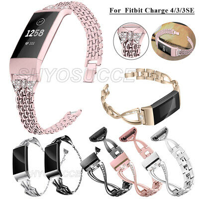 AU20.25 • Buy For Fitbit Charge 3 4 3SE Metal Stainless Steel Strap Replace Wrist Watch Band