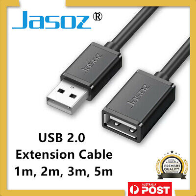 AU5.45 • Buy JASOZ® USB Extension Data Cable 2.0 A Male To A Female Long Cord For Laptop PC