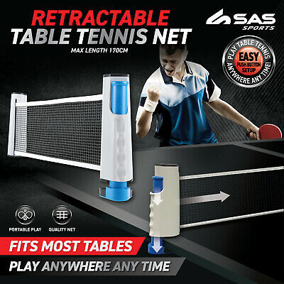 AU19.95 • Buy Table Tennis Net Retractable Portable Compact Easy Set Up Premium Quality 170cm