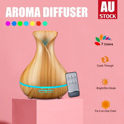 AU10.95 • Buy Aroma Aromatherapy Diffuser LED Essential Oil Ultrasonic Air Humidifier Purifier