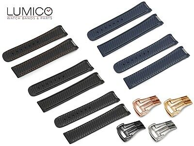 £27.45 • Buy For OMEGA Watch Rubber Stitch Strap Band 20mm Clasp SeaMaster Planet Ocean