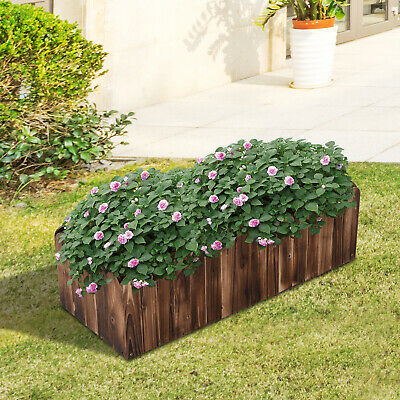£32.99 • Buy Outsunny Raised Flower Bed Garden Container Box Planter Display Wood