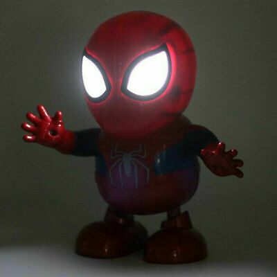 £11.79 • Buy Spiderman Dance Hero Action Figure Robot Toy Dancing Music With Light Sound Gift