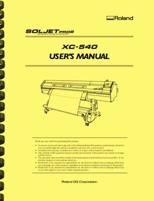 AU25.69 • Buy Roland Soljet Pro III XC540 Printer Cutter OWNER'S MANUAL