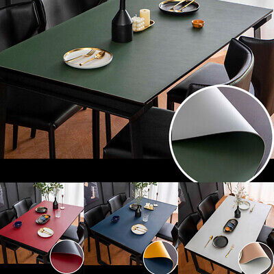 AU61.88 • Buy PU Leather Waterproof Dining Table Cover Tablecloth Desk Mat Double-Sided Decor