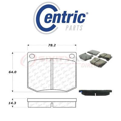 $32.66 • Buy Centric Posi Quiet Ceramic Brake Pads W Shims For 1972 TVR 3000M 3.0L 4.7L My