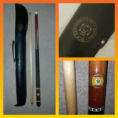 AU44.43 • Buy Rare BCE 9 Ball Pool Cue And Leather Travel Carry Case Game B C E 57 Inch