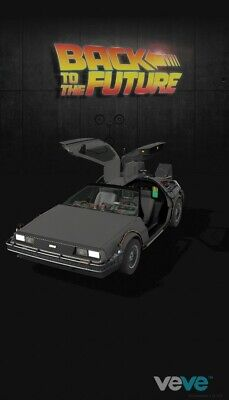 $80 • Buy VEVE DeLorean Back To The Future NFT COMMON #30913 Sold Out Art 1:6 Model 1st Ed