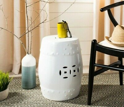 £150 • Buy A Pair Of Chinese Ceramic Ming Stool For Indoor Or Outdoor Use, White