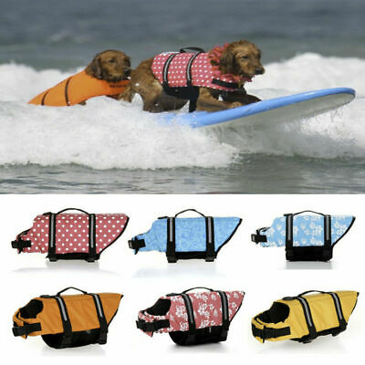 Pet Dog Life Jacket Swimming Float Vest Reflective Buoyancy Sailing Aid XS-XL • 8.09£