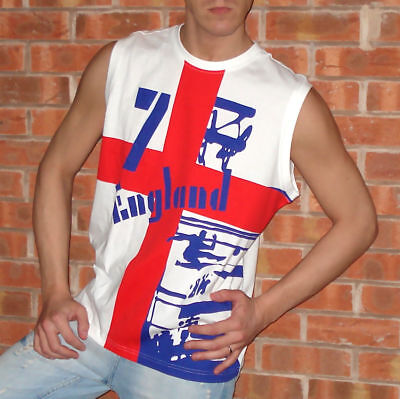 £7.50 • Buy NEW L Mens Adidas ENGLAND Football Soccer Shirt Muscle Vest Tank Top World Cup