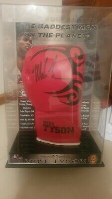 AU202.50 • Buy Proudly Sponsored By Mike Tyson Autographed Boxing Glove In Frame