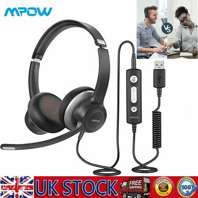 £35.19 • Buy Headsets Microphone For Skype Call PC Laptop USB Wired MIC Computer Headphone UK