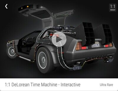 $285 • Buy Back To The Future DeLorean Ultra Rare #/12500 VeVe NFT 3D Digital Collectible