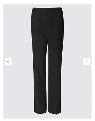 £9.50 • Buy M&S COLLECTION Straight Leg Trousers Size 16 Long
