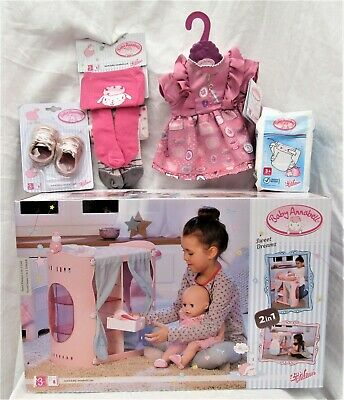 £79.99 • Buy Baby Annabell 2 In 1 Change Table & Wardrobe, Dress, Tights, Shoes &Nappies BNIB