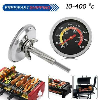 £6.74 • Buy 50-400℃Barbecue BBQ Smoker Grill Thermometer Temperature Gauge Stainless Steel*N