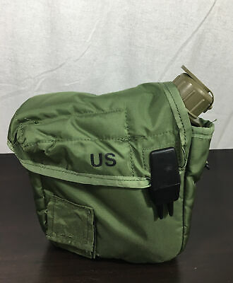$ CDN29.01 • Buy US Military 2 QT Collapsible Water Canteen + Green Cover Pouch