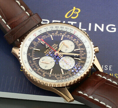 £12763.62 • Buy Breitling Navitimer B01 Chronograph 43 750er Rose Gold Box And Papiere New