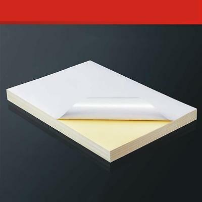 AU13.80 • Buy Self Adhesive A4 Blank White Vinyl Sticker Label Paper For Printer Fast