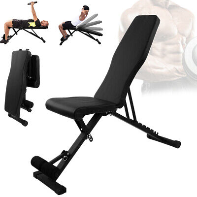 £47.79 • Buy Weight Bench Gym Workout Flat Incline Decline Sit Up Lifting Barbell Adjustable