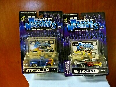 AU16.51 • Buy Lot Of 2 Muscle Machines 1:64 Scale New In Pkgs ('57 Chevy & '53 Chevy Pickup)