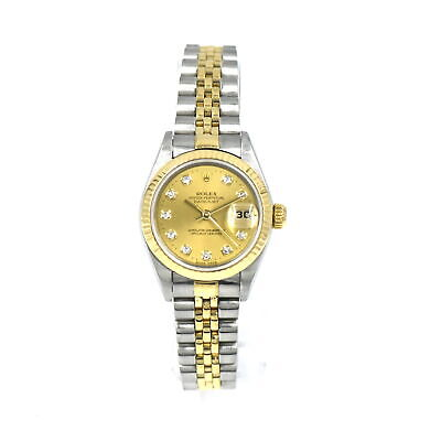 AU2608.02 • Buy Rolex Oyster Perpetual Datejust 79173 Wristwatch Diamond 18k Gold Ss Box Booklet