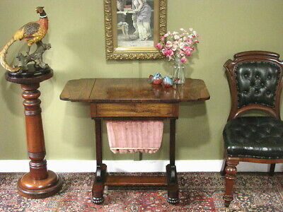 AU1200 • Buy ANTIQUE WILLIAM IV SEWING / WORK TABLE / SIDE TABLE / BEDSIDE CABINET ~ C1830s