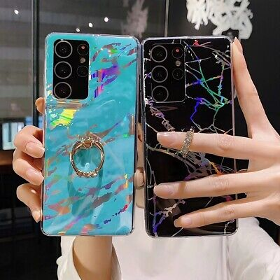 AU9.98 • Buy Marble Case Soft TPU Phone Case With Ring For IPhone 12 12Mini 11 XR X 8Plus 7
