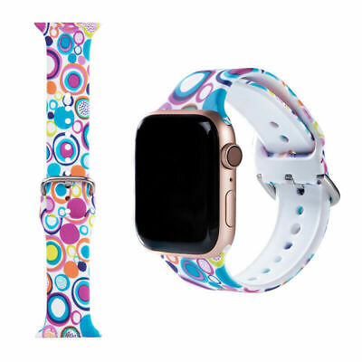 $ CDN7.36 • Buy For Apple IWatch Watch Band Series 1/2/3/-6 Girls Silicone Modern Fashion Strap