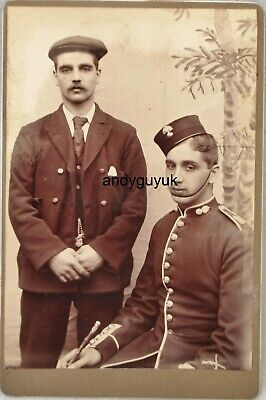 Cabinet Card Soldier Military Fusilier Antique Photo Victorian • 5£