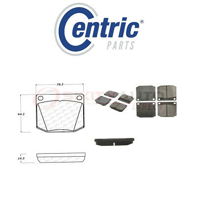 $38.02 • Buy Centric Posi Quiet Metallic Brake Pads W Shims For 1972 TVR 3000M 3.0L 4.7L Ig