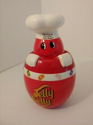 £14.15 • Buy Jelly Belly Candy Jar RARE Gourmet Jelly Bean Red Ceramic Container