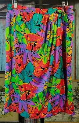 AU38.69 • Buy VTG 80s Jantzen L Skirt Cover Up Beach Swimsuit Poolside Tropical Faux Wrap EUC
