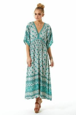 AU201.50 • Buy Spell Kombi Folk Dress - Sage