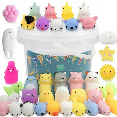 AU15.19 • Buy 10/20PCS Cute Animal Squishies Kawaii Mochi Squeeze Toys  Squishy Stretch *N