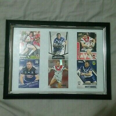 AU0.99 • Buy BRETT MORRIS *Signed & Framed* NRL Card Memorabilia [BULLDOGS/DRAGONS]