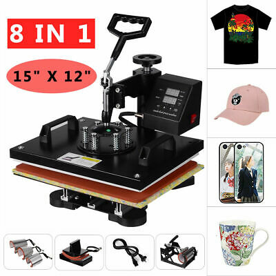 AU264.99 • Buy 8in1 15  Digital Manual Heat Press Transfer T-Shirt Sublimation Printer Machine