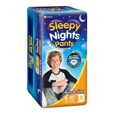 AU44.46 • Buy Babylove Sleepy Night Pants 8-15 Years 8 Pack Toddler Kids Disposable Nappies