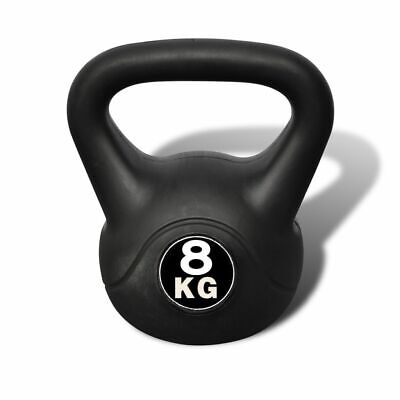 AU39.99 • Buy VidaXL Kettlebell 8kg Concrete Weight Fitness Home Gym Exercise Dumbbell