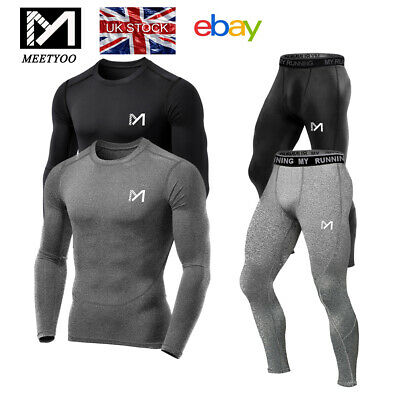 £10.92 • Buy MEETYOO Compression Tights + Top Base Layer Skin Tights Shirt Armour Full Suit