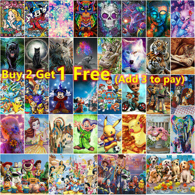 AU12.99 • Buy 5D Full Drill Diamond Painting Kits Embroidery Cartoons Picture Decor Arts Gifts