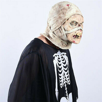 $ CDN20.43 • Buy Cosplay Devil Face Cover Realistic Creepy Face Halloween Party Horror Props LC