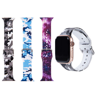 $ CDN7.29 • Buy For Apple IWatch Band Series 6-1 Sports Silicone Bracelet Strap Band Great Gift