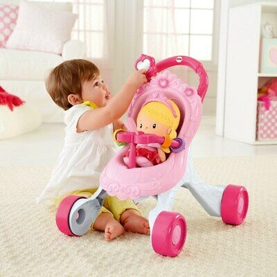 £37.49 • Buy Fisher-Price Princess Stroll-Along Musical Walker And Doll Gift Set - New