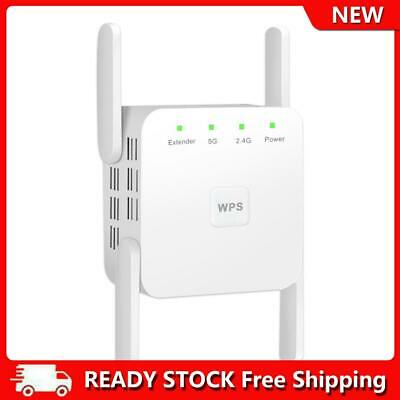 AU34.41 • Buy 1200M 2.4+5GHz Wireless Repeater 4 Antennas WiFi Signal Booster Extender UK