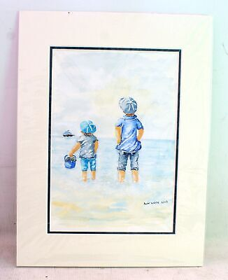 ANN WHITE 'Sea View' ORIGINAL Watercolour Paintings - SIGNED - S77 • 12.50£