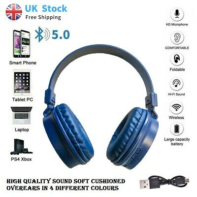 £6.97 • Buy Wireless Bluetooth Headphones With Noise Cancelling Over Ear Earphone's XB240